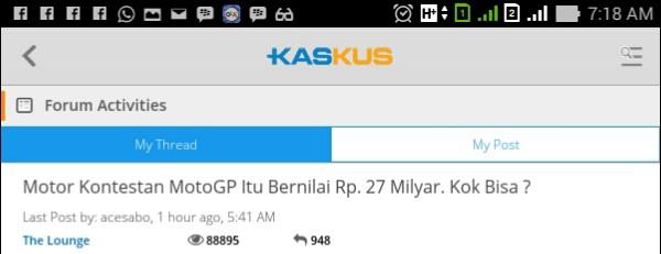 Traffic di KASKUS