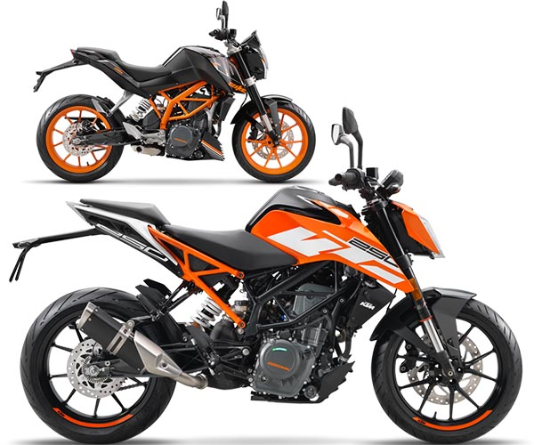 perbandingan KTM Duke 250 old dengan KTM Duke 250 MY2017