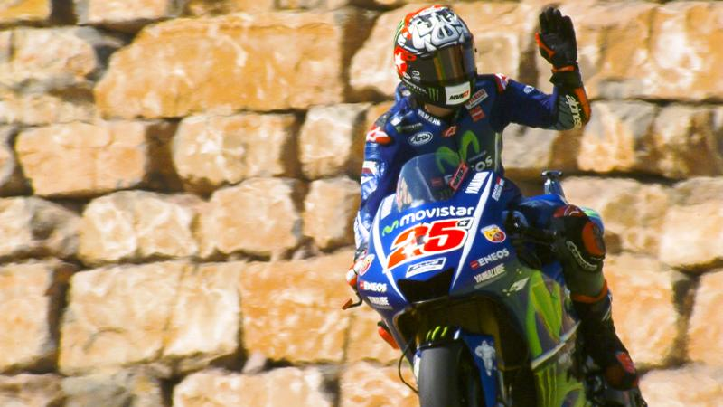 Maverick Vinales (Movistar Yamaha motoGP) pole position di GP Aragon
