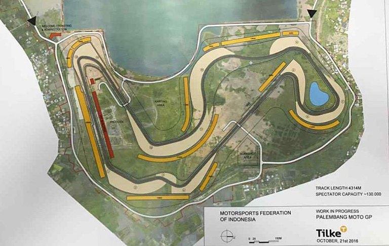 Sirkuit Jakabaring-Palembang, calon kuat tuan rumah motoGP 2019