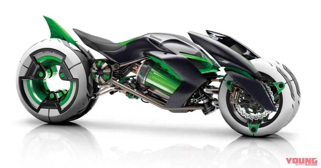 Kawasaki J, Motor listrik pintar