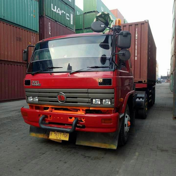 Truk kontainer ini hilang di jalur pantura