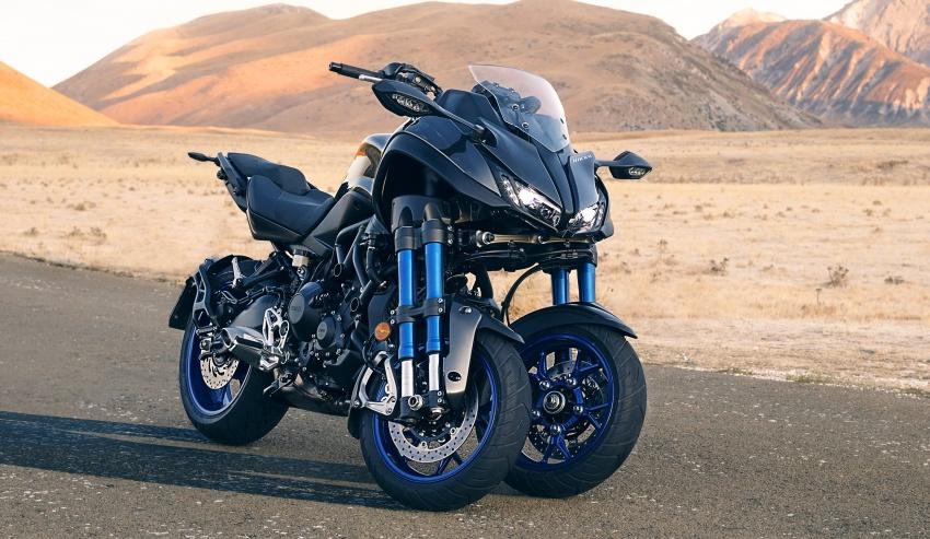 Yamaha Niken, memakai sasis yang sama dipakai oleh Yamaha MT09