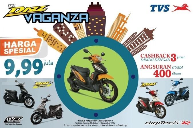 TVS Dazz Vaganza, Promo Akhir Tahun, TVS jual Motor Rp 9,99 juta