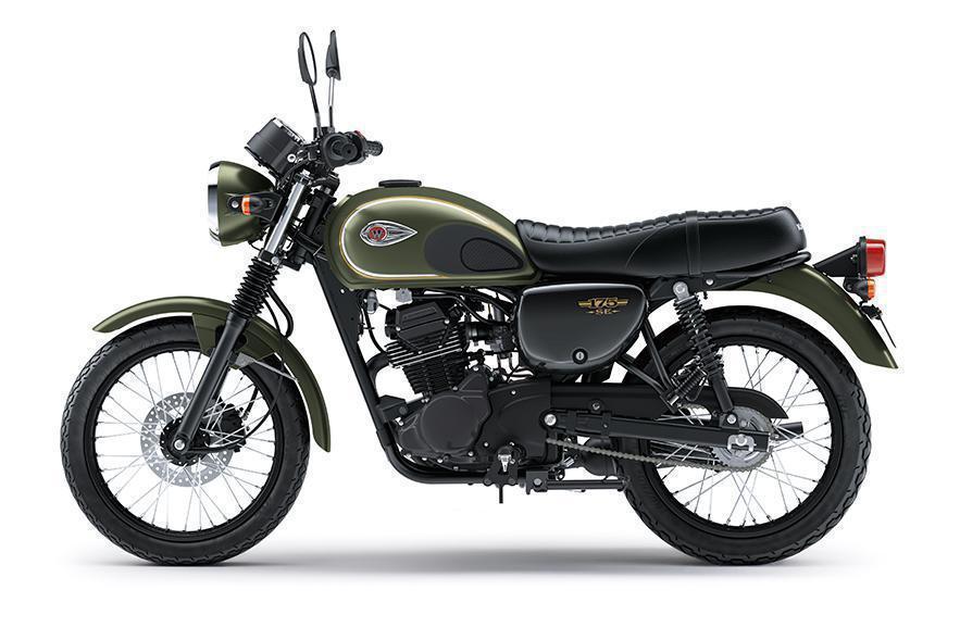 Kawasaki W175 Special Edition Warna Metallic Matte Covert Green