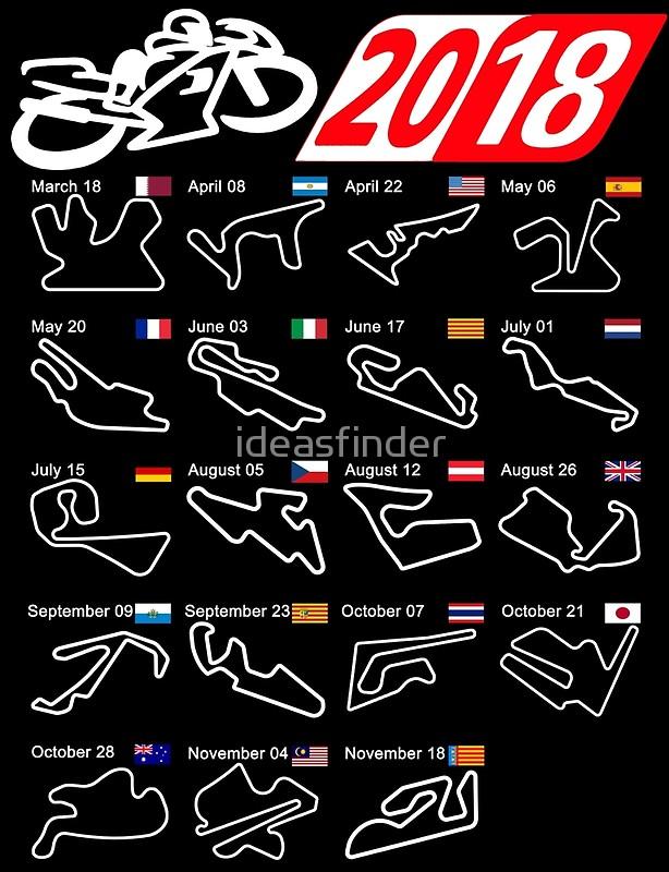 19 Sirkuit penyelenggara motoGP 2018