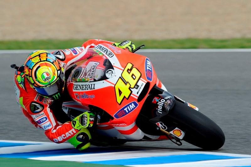 Valentino Rossi ketika masih bersama Ducati