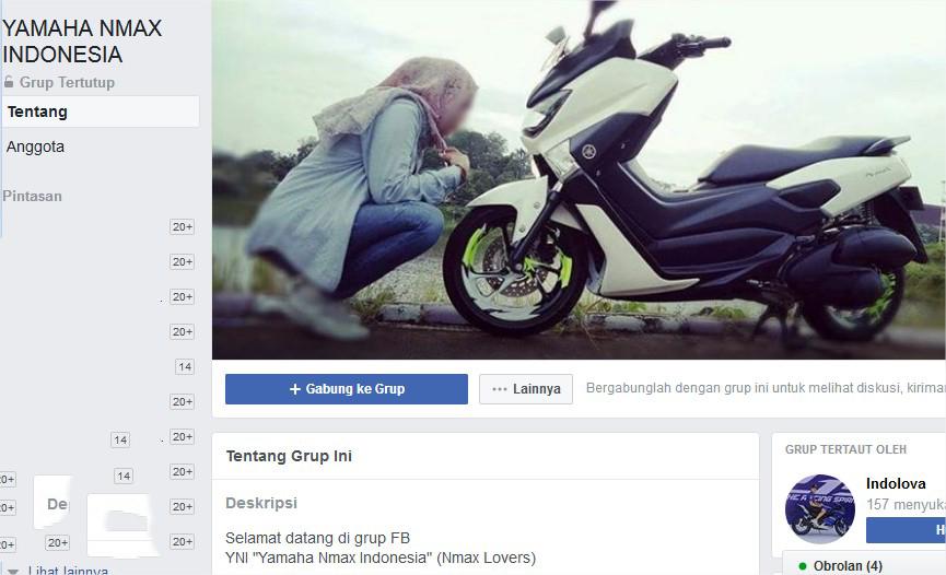 Cover group FB YAMAHA NMAX INDONESIA