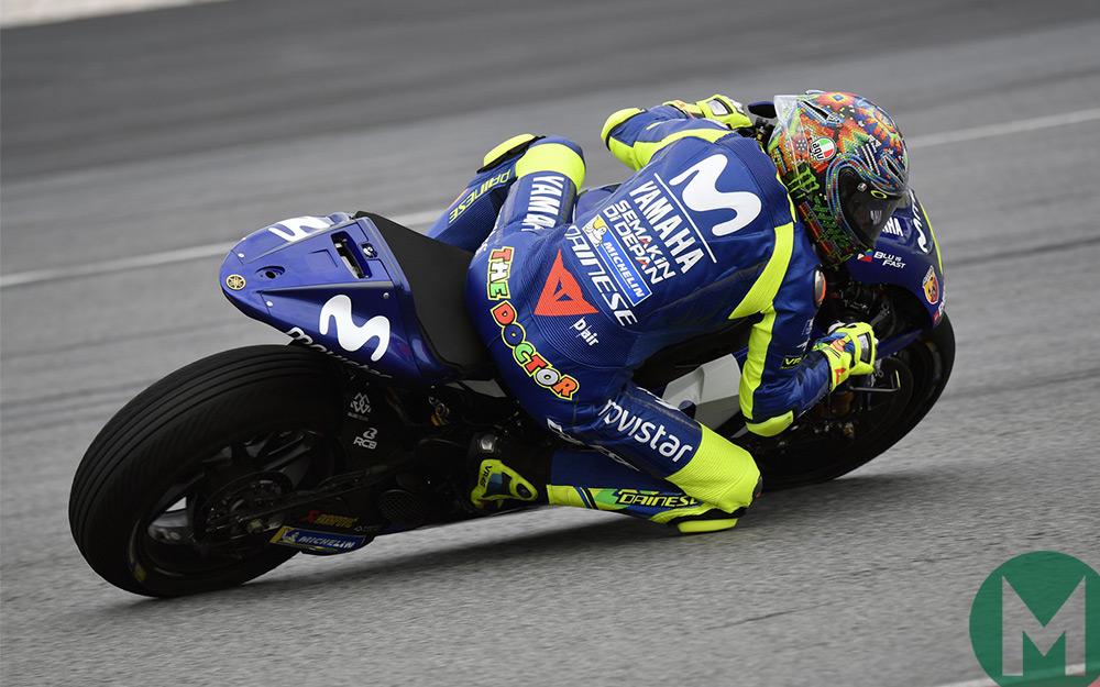 Rossi dengan fairing baru
